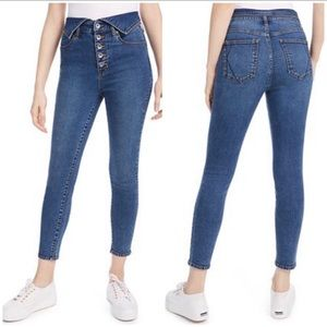 Kendall + Kylie button fly high rise jeans NWT 26